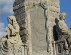 Passengers on the Mayflower list on the National Monument to the Forefathers in Plymouth, MA.