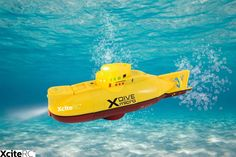 Tauchen Sie ab in die Tiefen Ihrer Badewanne oder Ihres Aquariums! Das XciteRC X-Dive ist ein ferngesteuertes Mini U-Boot in realistischem Design. Dank des motorgetriebenen Tauchtanks kann das U-Boot auf der Stelle ab- und wieder auftauchen.