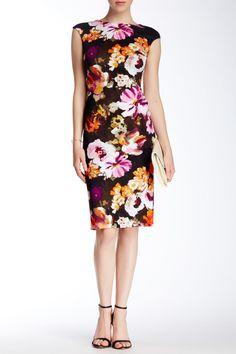 Paintbrush Flower Midi Dress by Maggy London on @nordstrom_rack Sponsored by Nordstrom Rack.