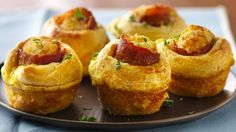 Bacon-Egg Breakfast Bites Pillsbury® crescent rounds wrap up a delicious new way to love bacon and eggs!