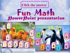 Addition and subtraction- interactive slide show  Interactive Math (Addition and subtraction to 20) This is a 25 slide PowerPoint presentation. This is a super fun and interactive slide show. When you click, the answer appears. Enjoy! New products are 50% off during first 24 hours of posting!