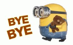 The perfect Bye Minions Animated GIF for your conversation. Discover and Share the best GIFs on Tenor. Minion Gif, Despicable Me Gif, Humor Minion, Cute Minions, Minions Animation, Bye Gif, Crush Messages, Teddy Bear Quotes, Minion Videos