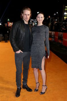 """thelastwordoneverything: """" Sam Heughan and Caitriona Balfe attend the """"T2 Trainspotting"""" premiere on 01-22-17 http://lastword.freeforums.net """""""