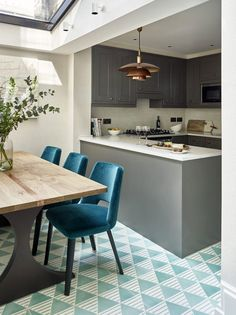 Design in turquoise tones in London | #interior #design #home #decor #idea #inspiration #london #england #traditional #modern #classic #style #blue #color #tone