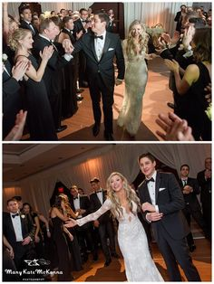 grand entrace to Gold and Glam DC New Years Eve wedding at Park Hyatt DC | Mary Kate McKenna Photography | MKMcKenna.com
