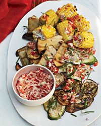 Grilled Vegetables with Roasted-Chile Butter Recipe on Food & Wine