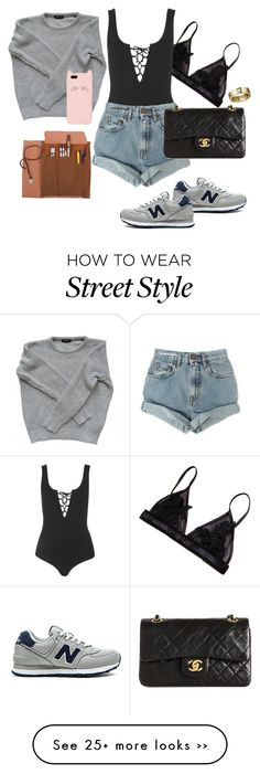 """""""Street Style Part 2"""" on Polyvore featuring Topshop, New Balance, Levi's, Chanel, American Apparel and Kate Spade"""
