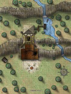 Overworld, Mine, Entrance, Dungeon  Mine Exterior