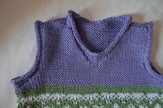 Il mio Mondo: Gilet bimbo lavorato a maglia         ho lavorato ...
