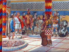 Mycenaean Greek court of the late bronze age Greek History, Ancient History, European History, American History, Ancient Troy, Ancient Aliens, Sea Peoples, Minoan Art, Greek Warrior