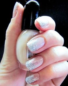 Beautiful Nails With Silver Glitter