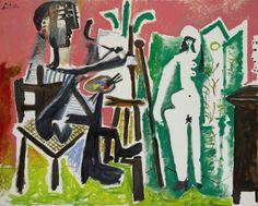 Pablo Picasso, Le Peintre et son modèle (1963).