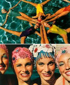 Old school synchronized swimming