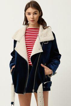 799e72d399f76 Uella Velvet Aviator Jacket Discover the latest fashion trends online at  storets.com