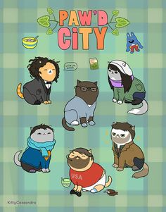 "This ""Paw'd City"" Print 