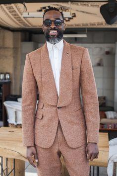 bearded fashion; black and bearded