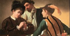 off Hand made oil painting reproduction of The Cardsharps (I Bari), one of the most famous paintings by Caravaggio. The Cardsharps was painted in during a moment when Caravaggio was transitioning from the traditional still life baskets to por. Michelangelo Caravaggio, Gypsy Fortune Teller, Oil Canvas, Canvas Art, Baroque Painting, Art Uk, Italian Artist, Western Art, Your Paintings