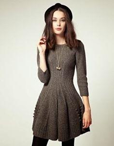 Dziana Moda: Grafitowa sukienka na drutach