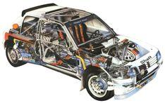 Peugeot 205 Turbo 16 Evolution 1 ex Ari Vatanen Psa Peugeot, Peugeot 205, Cutaway, Retro Cars, Vintage Cars, 205 Turbo 16, Cars Series, Car Colors, Classic Cars