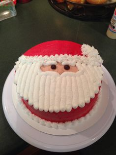 Another Santa cake - Torten - noel Christmas Cake Designs, Christmas Cake Decorations, Christmas Sweets, Holiday Cakes, Holiday Baking, Christmas Desserts, Christmas Cupcakes, Christmas Baking, Merry Christmas