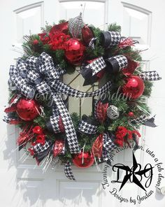 A Very Diva Christmas Evergreen Wreath Black by DesignsbyJordanTX, $125.00