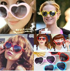 2014 Japan and South Korea Meng heart-shaped sunglasses models of the influx of people who love the beach photos glasses $8.55