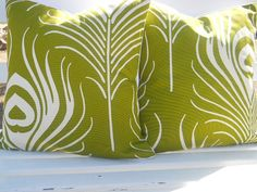 Chartreuse and White Pillow Covers - Thom Filicia Diy Pillows, White Pillows, Throw Pillows, White Pillow Covers, Decorative Pillow Covers, Lime Green Decor, Thom Filicia, Chartreuse Color, Sweet Home