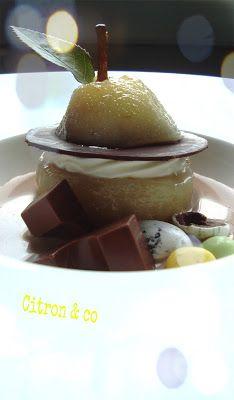 Citron & co: POIRE POCHEE RECONSTITUEE, ACCOMPAGNEE D'UNE SOUPE...