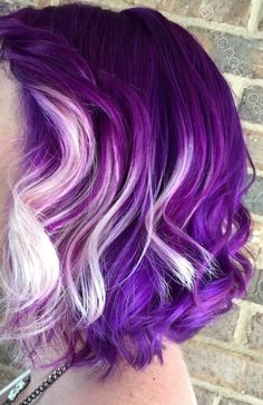 Purple white dyed hair @shondabroadus