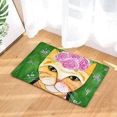 Cat door mat, floor mat with cat print