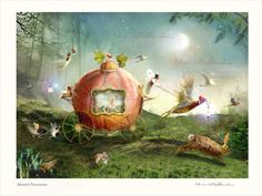 Moonlit Procession - Fairy Art Print Mounted and hand signed £21.00