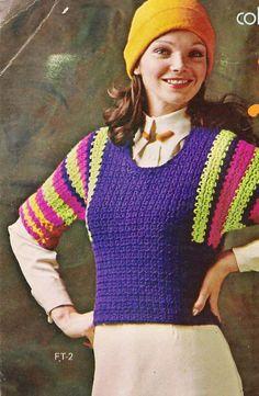 FRAPPE FLIP Top Crochet Blouse Pattern by suerock on Etsy, $4.25