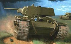 Советский тяжёлый танк КВ-1.