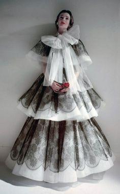 Wenda Parkinson in a Hardy Amies Gown, 1951, Norman Parkinson