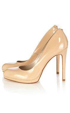 Patent leather platform court shoe | Luxury Women's shoes | Karen Millen