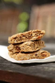Part energy bar, part oatmeal cookie, these chewy cashew-butter- and fig-based bars are a lovely, less-indulgent option. Photo: Anna Monette Roberts