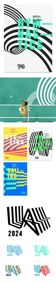 Minimalist Poster Design Inspiration — LA 2024 Olympic Bid City by Ryan Atkinson, Jason Little, Michael Boston & RE: Sydney Poster Layout, Design Poster, Design Graphique, Art Graphique, Graphisches Design, Logo Design, Design Color, Graphic Design Inspiration, Color Inspiration