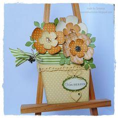 Stempeleinmaleins Blumentopfkarte