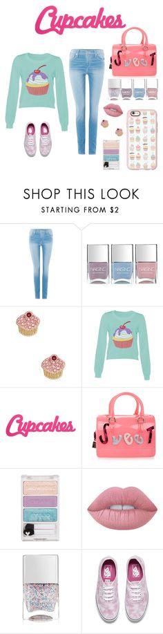 """Sweet Cupcakes"" by pink-quartz ❤ liked on Polyvore featuring True Religion, Nails Inc., Kate Spade, DK, Furla, Lime Crime, Vans and Casetify"
