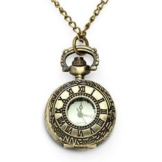 ThinkGeek :: Victorian Pocket Watch Pendant