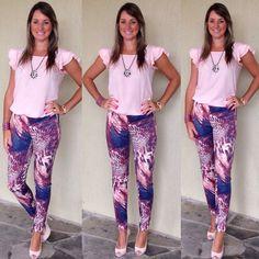 Look de trabalho - look do dia - moda corporativa - animal print - pink - rosa - calça estampada