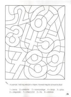 Kinder lernen spielend - ABC und 123 - Zahlen - Ausmalen und Lernen - Freebie *** Fun Kids Learning - Free Printable Learning and drawing the Numbers Numbers Preschool, Preschool Worksheets, Kindergarten Activities, Teaching Math, Preschool Activities, Montessori Activities, Learning Activities, Visual Perception Activities, Math For Kids