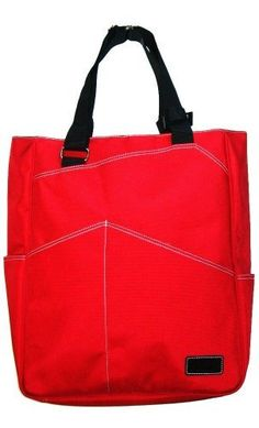Maggie Mather Tennis Tote Bag - Red by MAGGIE MATHER. $79.99. Maggie Mather Tennis Tote. We call this a tennis tote, but actually it can be used for a variety of purposes. The exterior is made of a heavy duty water repellent fabric and features a large two-racket front pocket, two additional front pockets, two side pockets are perfect for a can of balls or a water bottle, one back zipper pocket, and one interior zipper pocket. The main interior compartment and all ext...