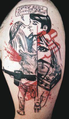 Jef : Tattoo Artists - Tattoo Designs - Tattoo Ideas Inked Magazine, Tatoo Styles, Skin Drawing, Let's Make Art, Top Tattoos, Tatoos, Tinta China, Tattoo Project, Tattoo Images