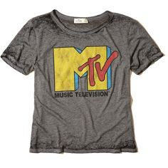 Hollister Distressed Graphic Tee ($20) ❤ liked on Polyvore featuring tops, t-shirts, dark grey mtv, graphic tees, crew neck tee, distressed t shirt, dark grey t shirt and crewneck tee