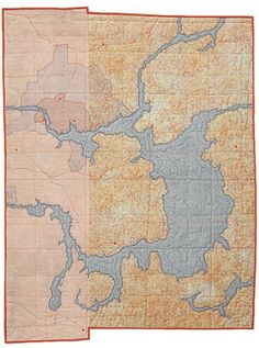 Leah Evans, beautiful map quilts