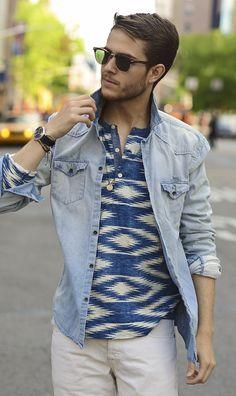 I AM GALLA: Blue hues   men's fashion
