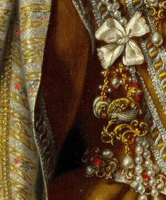 """Frans Pourbus the Younger--detail from """"Portrait of Maria Magdalena of Austria"""""""