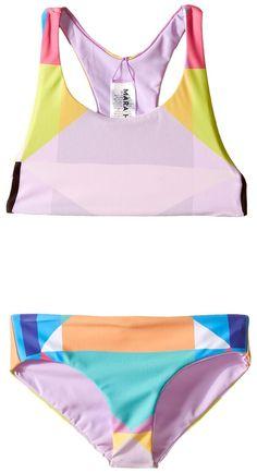 Mara Hoffman Kids Diamond Printed Racerback Bikini Top with Boardshorts Bottoms (Toddler/Little Kids/Big Kids)