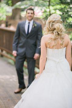 Gorgeous + classic half up bridal hairstyle: http://www.stylemepretty.com/georgia-weddings/atlanta/2015/12/03/elegant-historic-swan-house-lawn-wedding-in-atlanta/ | Photography: Justin DeMutiis - http://justindemutiisphotography.com/